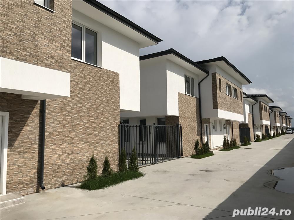 Vila tip duplex P+1, 4 camere, 150 mp curte, toate utilitatile