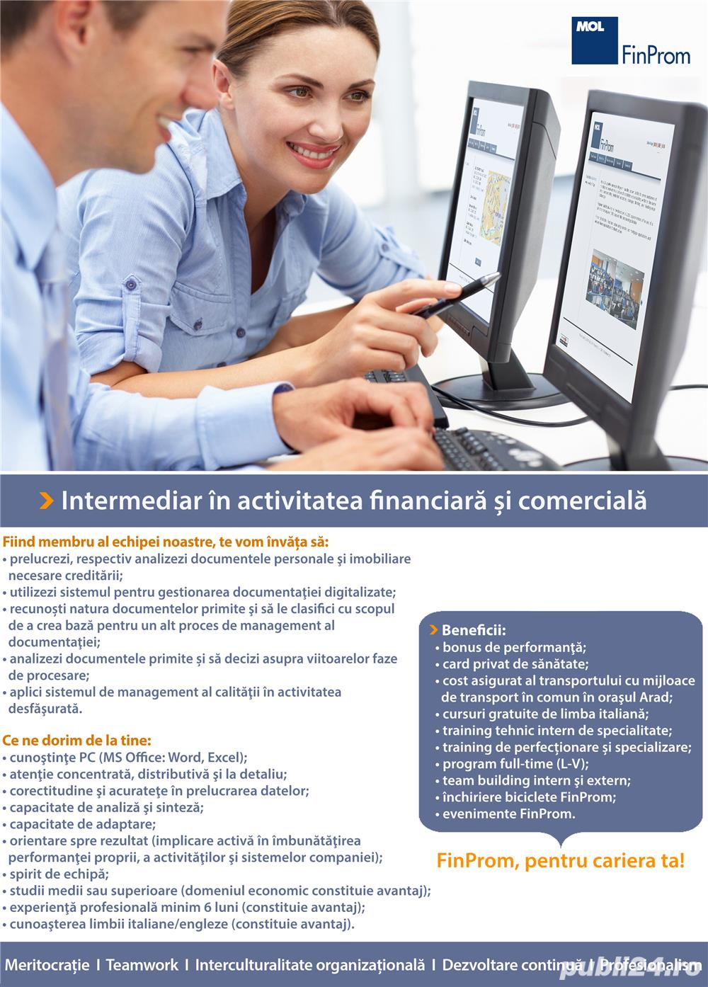 Intermediar in activitatea financiara