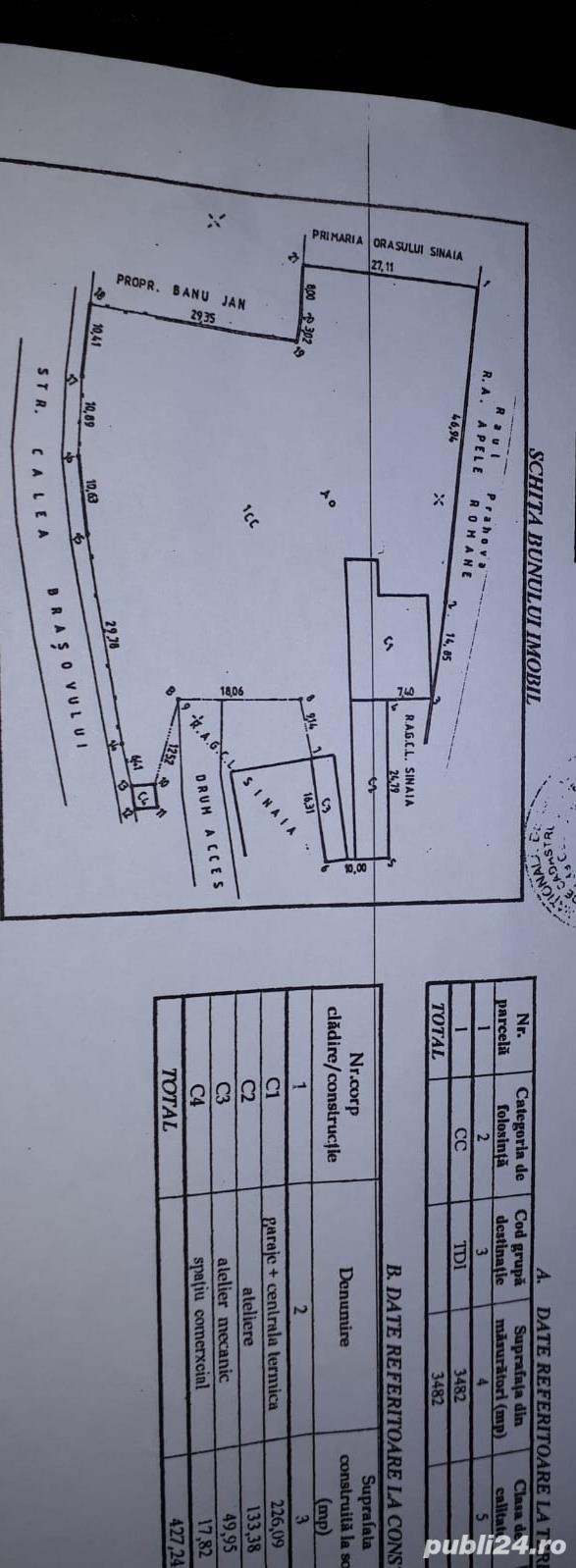 Sinaia 3482 m.p. vand/rate/chirie, negociabil!!!