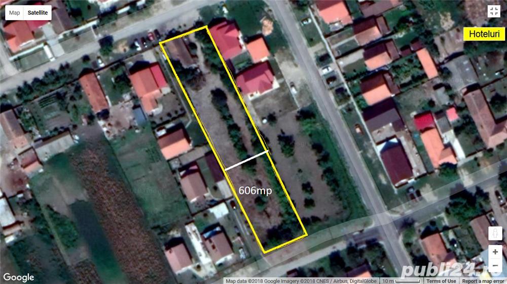 Teren intravilan in Sanmihaiul Roman, 606 mp, front stradal 18.5m