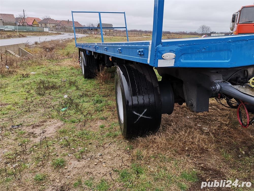 Remorcă platformă baloti, Remorci cereale 12 tone - 26 tone, Plug