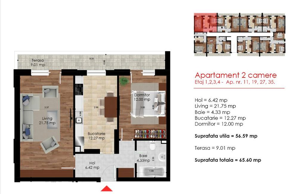 Berceni Dimitrie Leonida,metrou,apartament 2 camere decomandat