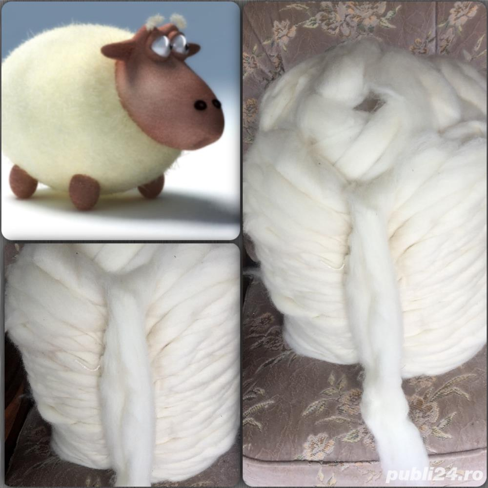 Lana roving, funie, frânghie lana , fir gros netors