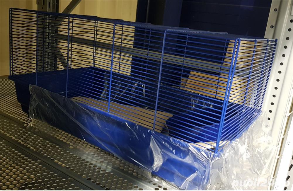 Cusca iepuri hamsteri guineea rozatoare plus roata si bila cu suport, cadou