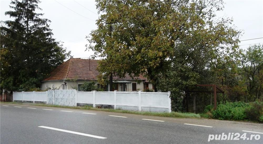 Casa cu teren de 8700 mp in Manasturel, com. Cuzdrioara, Jud. Cluj, la soseaua DN17 (E58)