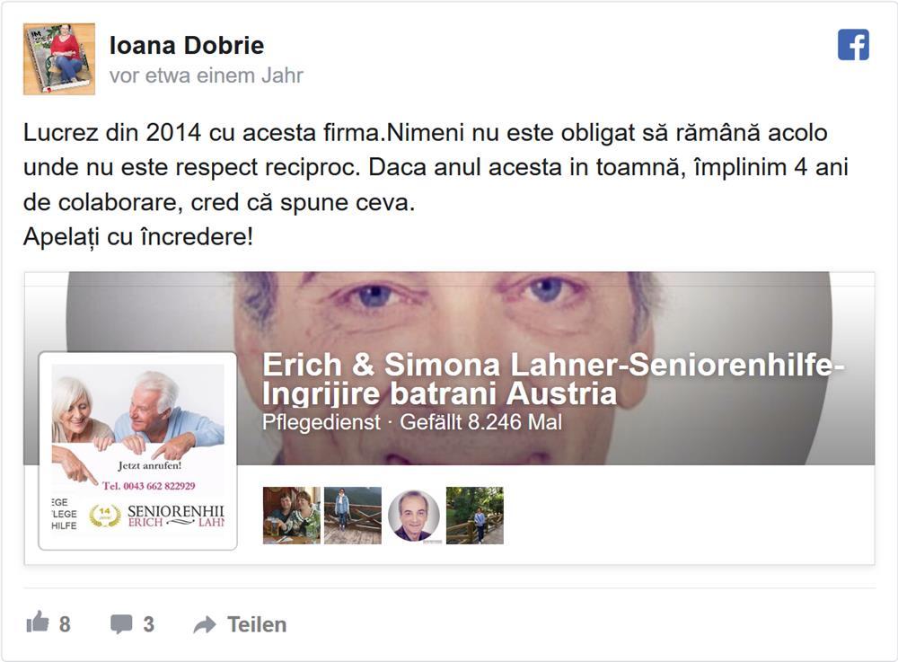 Ingrijire batrani Austria-Erich&Simona L A H N E R Seniorenhilfe