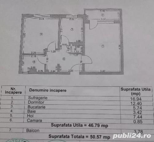 Cod VA2825 Apartament 2camere decomandat,zona Cet-A.Vlaicu