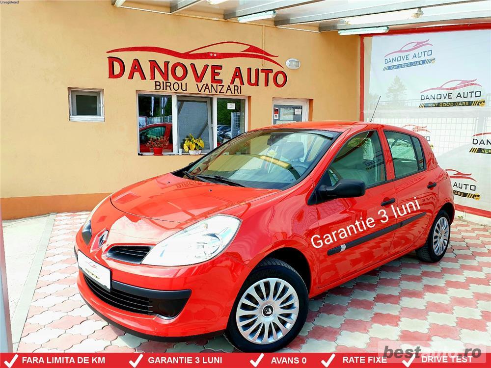 Renault Clio,GARANTIE 3 LUNI,AVANS 0,RATE FIXE,motor 1200 cmc,Clima,Euro 4.
