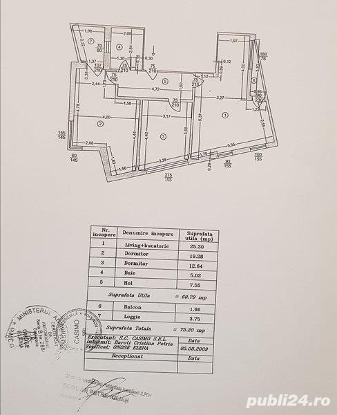 Apartament 3 camere decomandat -76mp-Dimitrie Leonida / Apusului