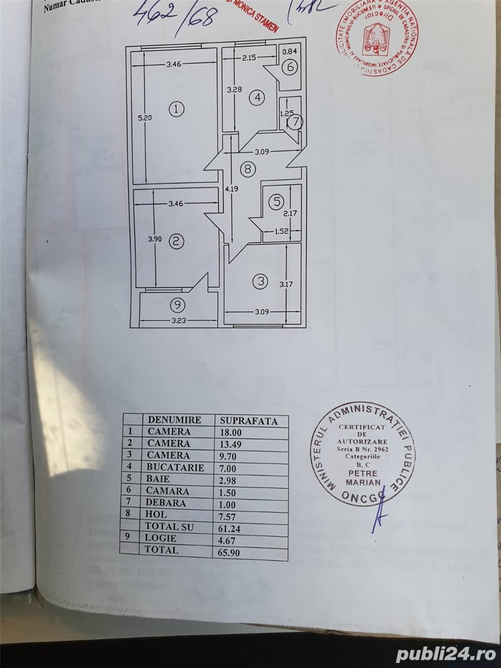 Proprietar, 3 camere Izvorul Muresului, zona Constantin Brancoveanu