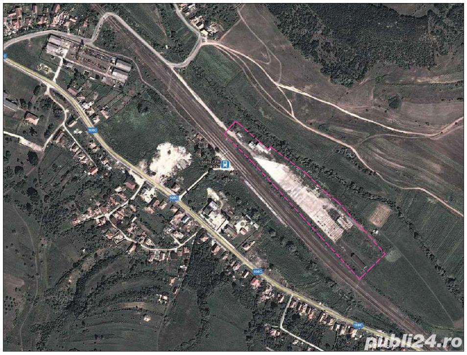 Teren si platforma betonata, cale ferata, Garbau, Jud Cluj