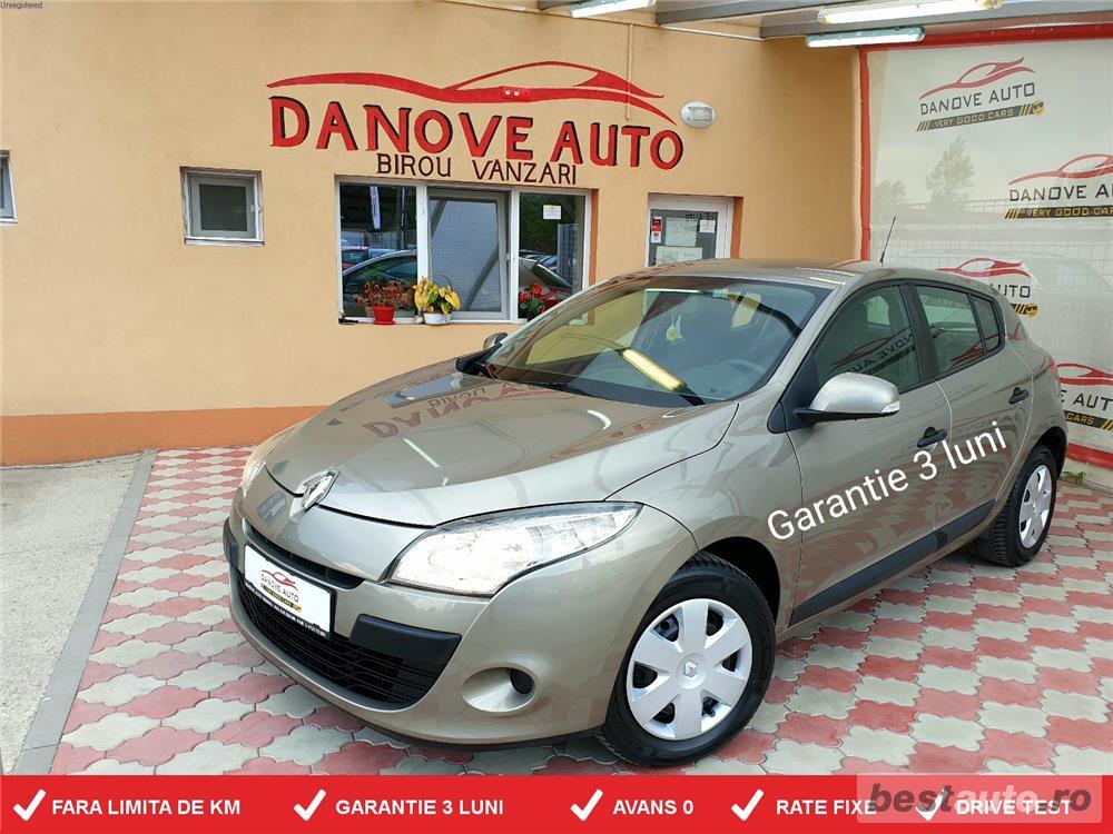 Renault Megane,GARANTIE 3 LUNI,AVANS 0,RATE FIXE,motor 1600 cmc,Start/Stop,101 Cp.