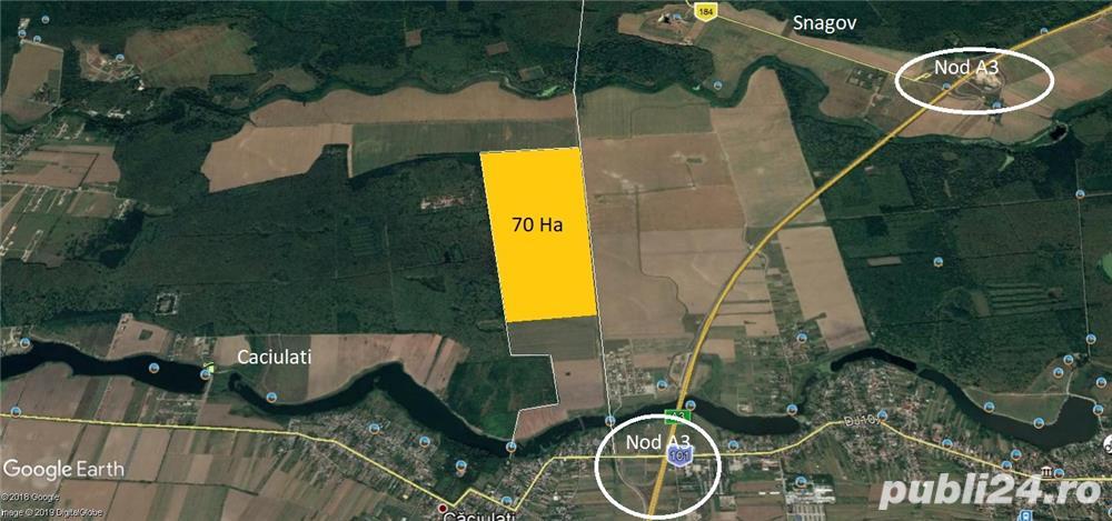 Teren Snagov latura padure 9,5 HA  -Autostrada A3