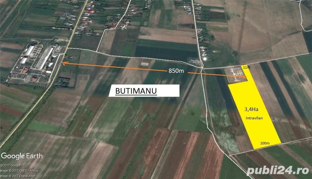 Teren  Butimanu  Dambovita 34 400 mp