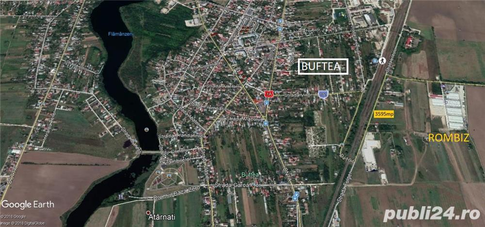 Teren  in suprsfata de 3595 MP. LA SOSEA BUFTEA GARA -ROMBIZ ,INDUSRTIAL