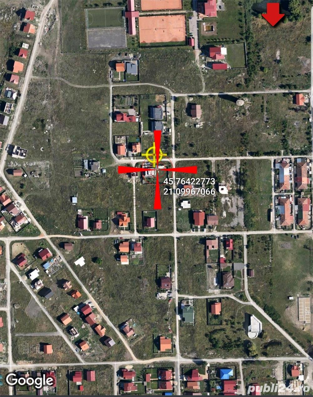 Sacalaz, 2 teren casa 500 si 475 mp, asfalt, curent, apa, gaz,  de la 23000euro