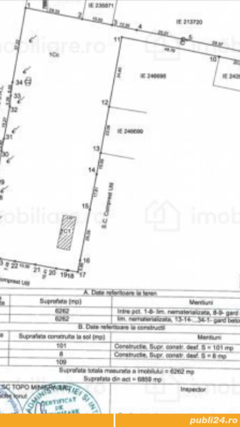 Teren zona intrioara2 6262mp ideal constructie hala