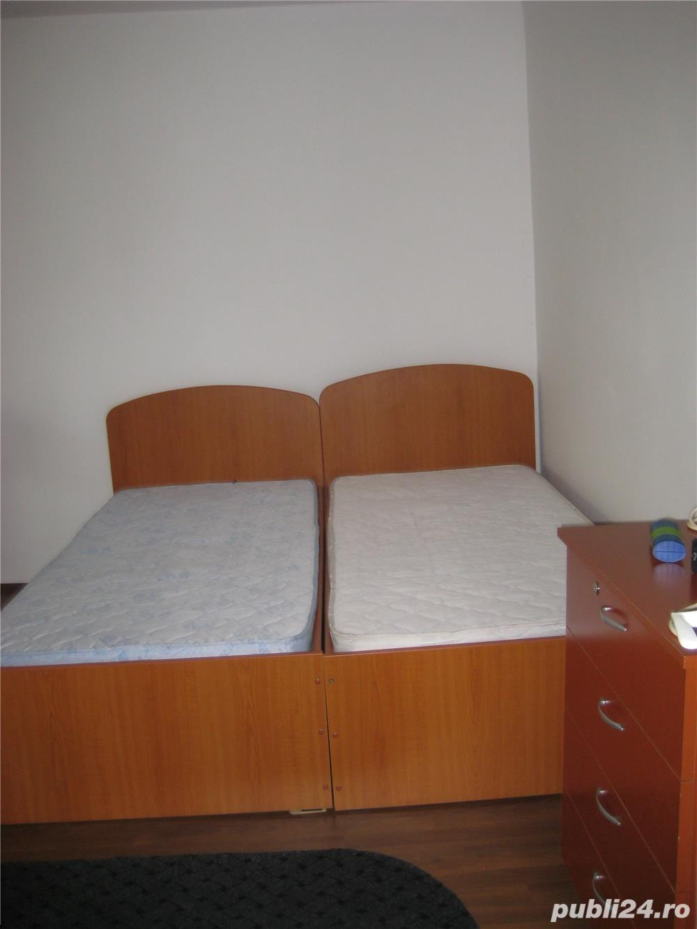 P.F. Inchiriez  Apartament 1 cam. 43mp Cluj-Napoca. Balcon 9 m cu termopan. Finisat. Cu Centrala.