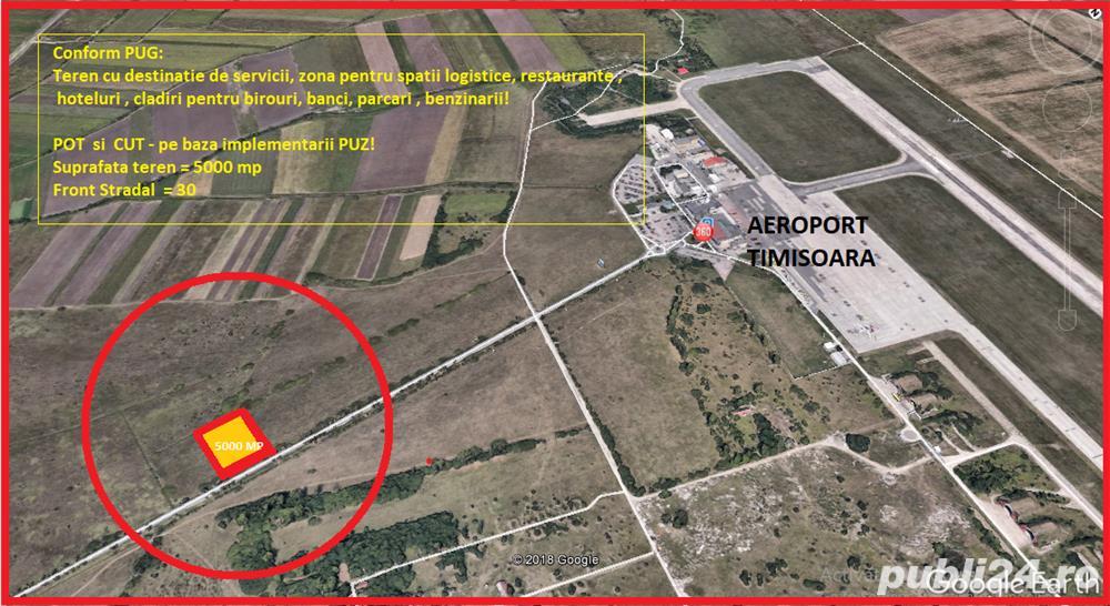 teren la  250   metri de aeroportul  Traian Vuia  -  Timisoara
