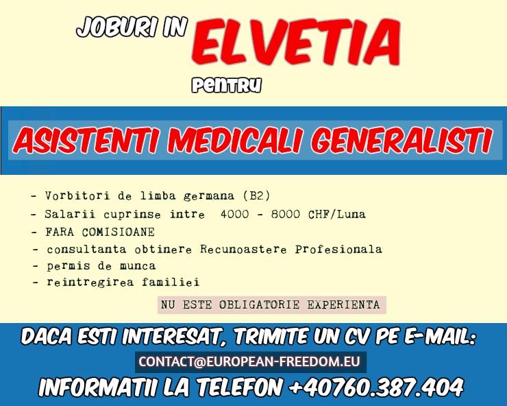 Asistenti Medicali Elvetia, Germania, Austria, Italia