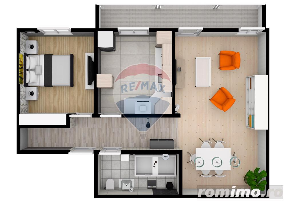 Apartament | 2 camere | 54,2 mpu | Selimbar | COMISION 0%
