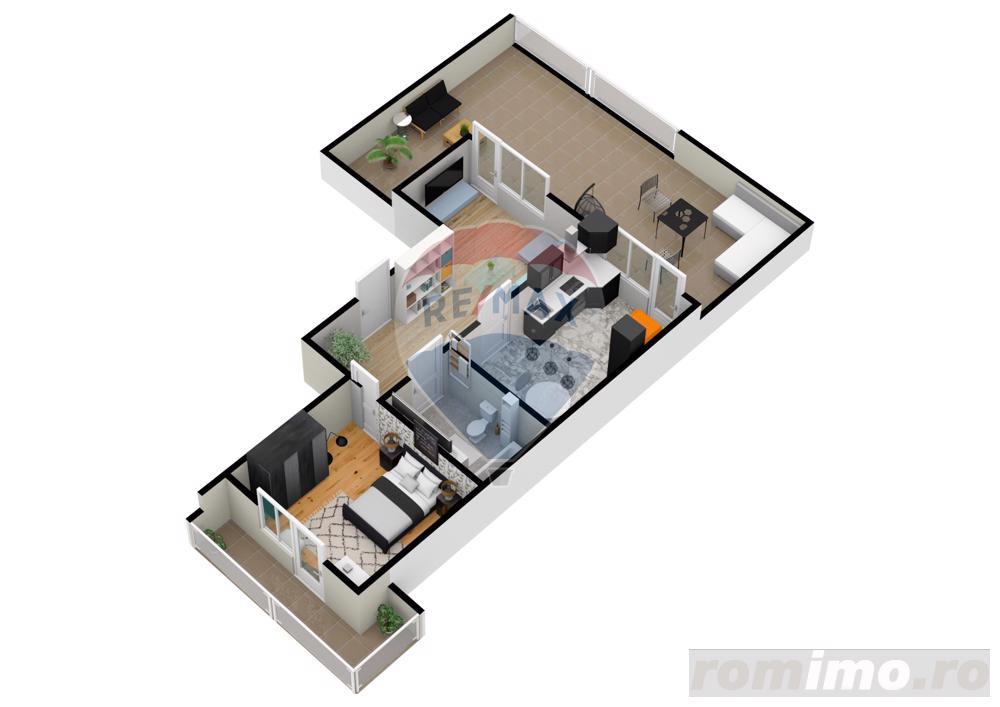 Apartament | 2 camere | Balcon- 9.5 mp | DEZVOLTATOR