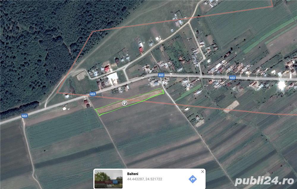 Vând teren intravilan în comuna Bălteni
