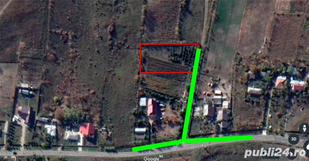 Teren pentru constructii case de vanzare Iasi, Tomesti