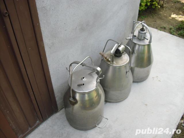 vand bidoane inox 25 de litri pt aparate de muls.