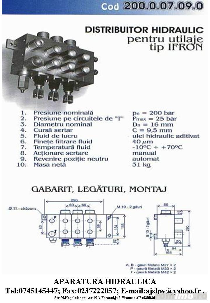 Piese schimb hidraulice pt.utilaje mobile tip:IFRON,TAF,TIH,Autogreder,HYDROM,automacara,etc