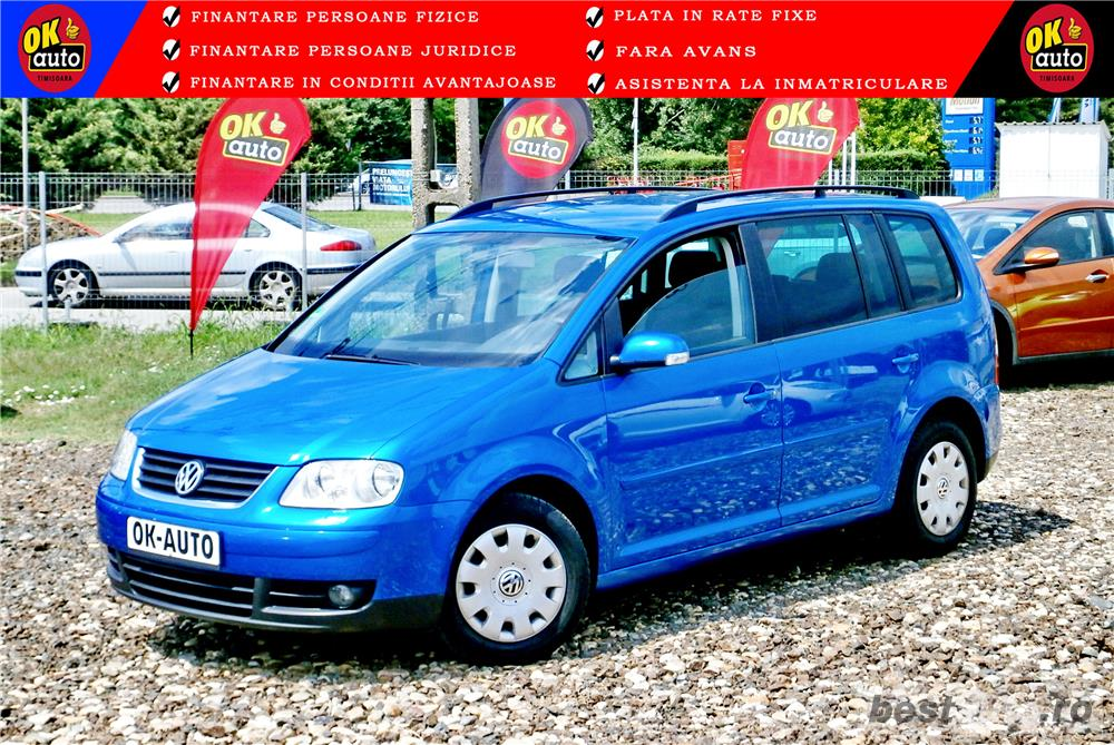 VW TOURAN 7 LOCURI - 2.0 TDI - 140 C.P. - EURO 4 - vanzare in RATE FIXE cu avans 0%.