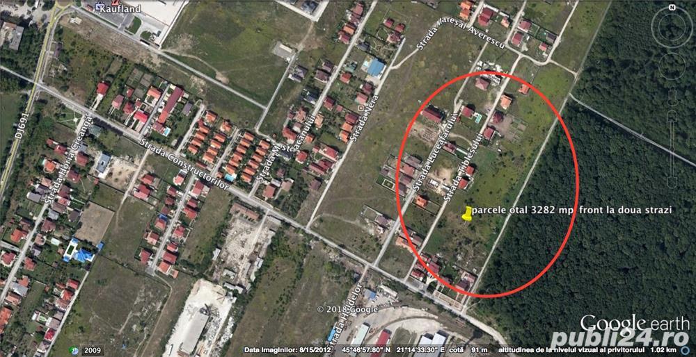 De vanzare teren intravilan, 3 parcele in zona Ferventia-Constructorilor