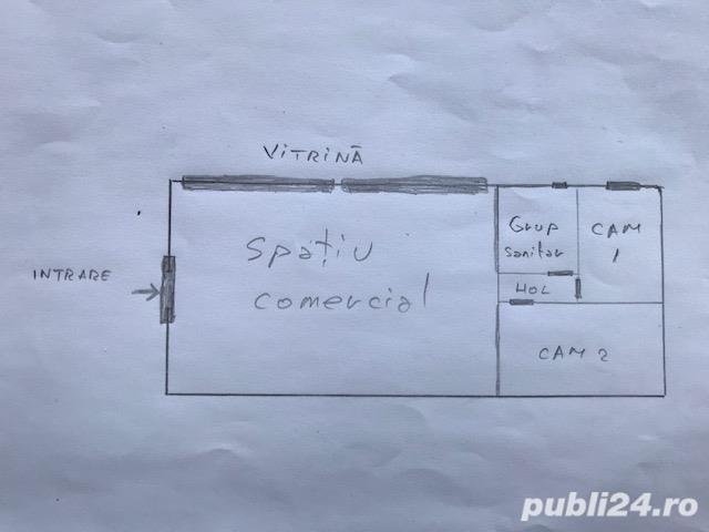 Spatiu comercial, 51mp, cu vitrina, de inchiriat, zona Garii