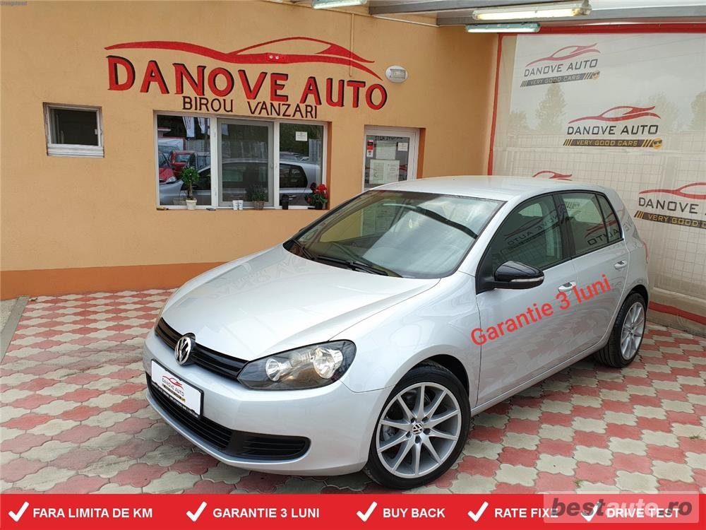 Golf 6,GARANTIE 3 LUNI,BUY BACK,RATE FIXE,motor 2000 Tdi,110 Cp,Euro 5.