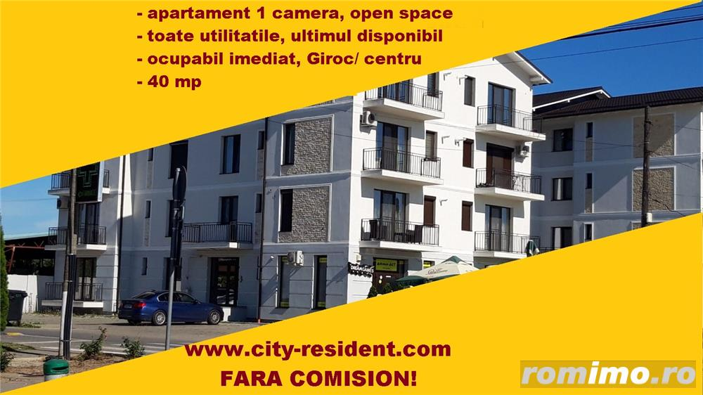 CITY RESIDENT - bloc nou apartament 1 camera open space lux, fara comision