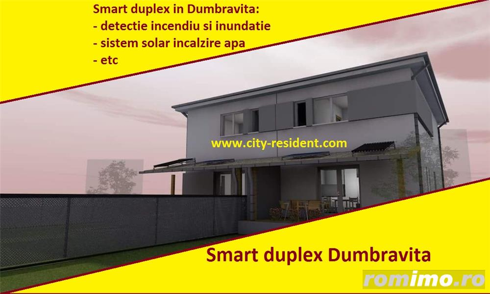 Smart duplex in dumbravita, dotari exceptionale/ unice, de vanzare 1/2 duplex prin City Resident,