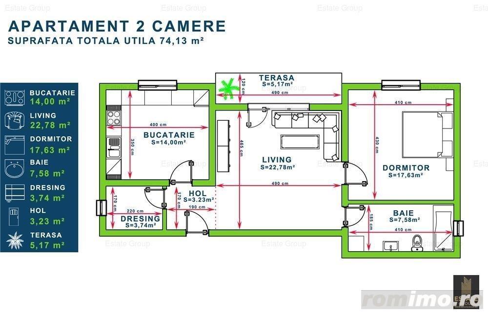 OP887 Aradului-Decathlon,Apartamente 2 Camere,2 Locuri de Parcare