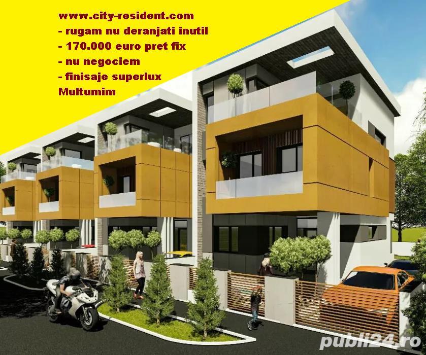 CITY RESIDENT - Finisaje 5*****! Zona rezidentiala exclusivista, vila/ casa, categorie lux
