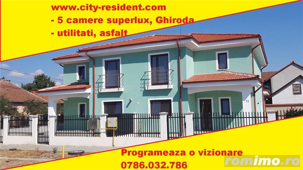 CITY RESIDENT - Duplex SUPERLUX Ghiroda, ultimul trend 4 camere, 2 bai, pret proprietar/ dezvoltator