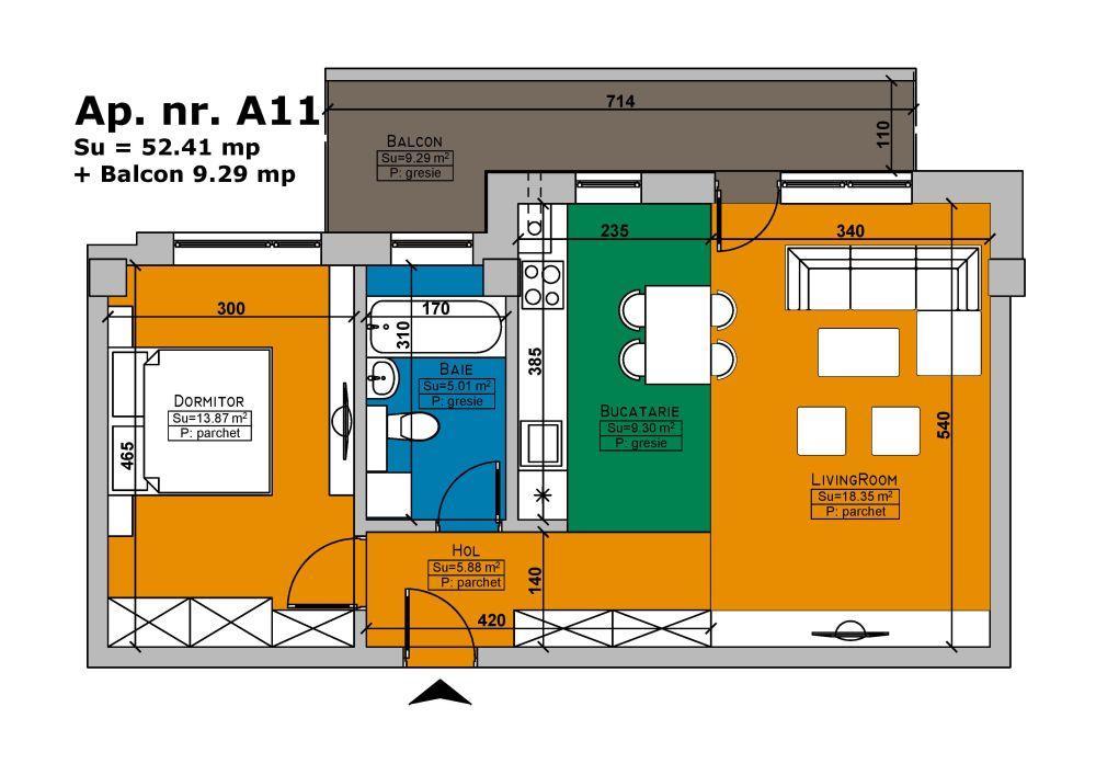 De vanzare apartament cu 2 camere Imobil Cehov