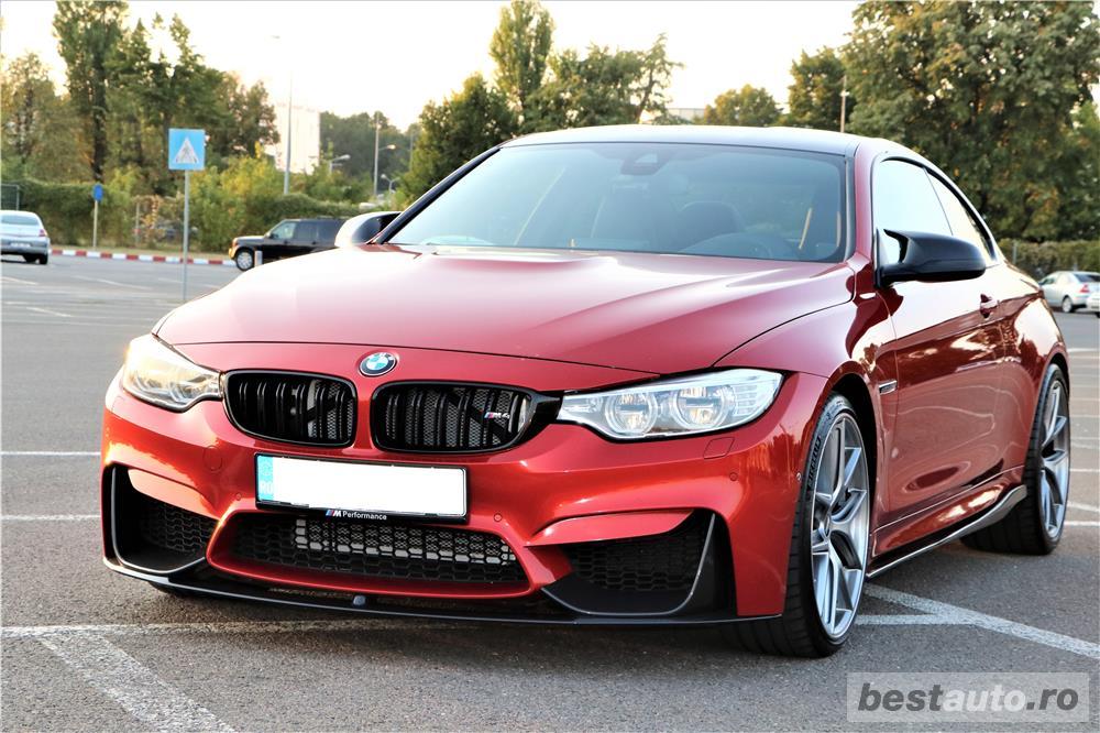 BMW M4, echipare MPerformance fabrica, culoare deosebita Sakhir Orange