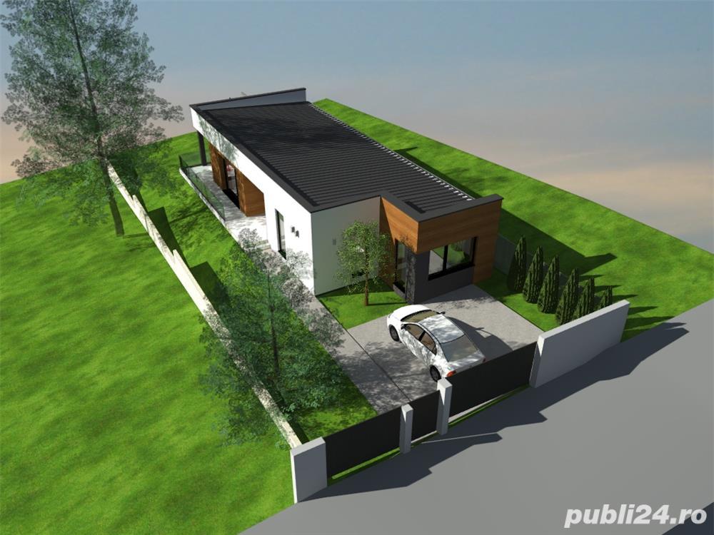 70.500 E ! Au mai ramas 2 case elegante si functionale 125 mp cu garaj si 4,5 ari teren