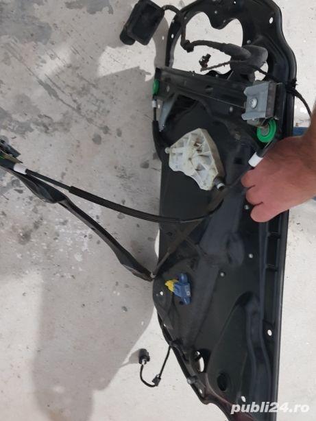 Macara, geam, cabluri stanga fata Passat B6