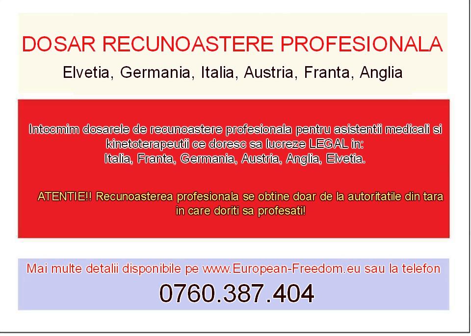 Asistenti Medicali Italia, Austria, Germania, Elvetia