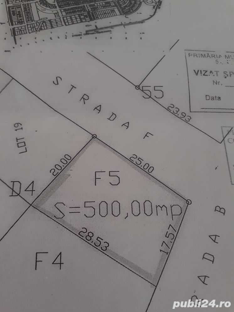 Teren intravilan 500 mp