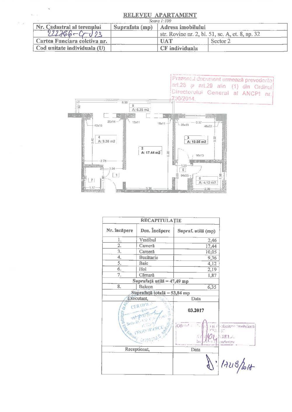 Mosilor Bancpost-apartament 2 camere, bloc reabilitat - particular