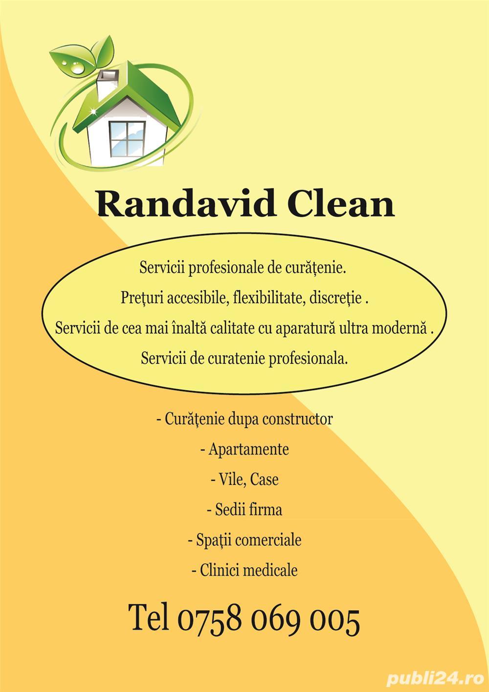 Firma curățenie RANDAVID CLEAN