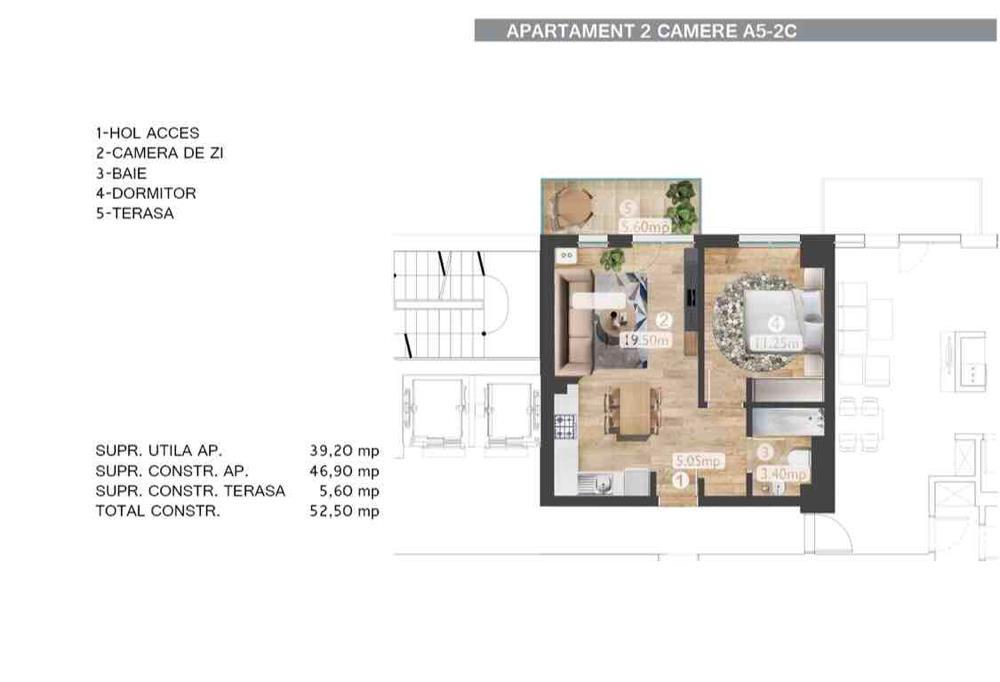 Apartament / 2 Camere / Belvedere Residents