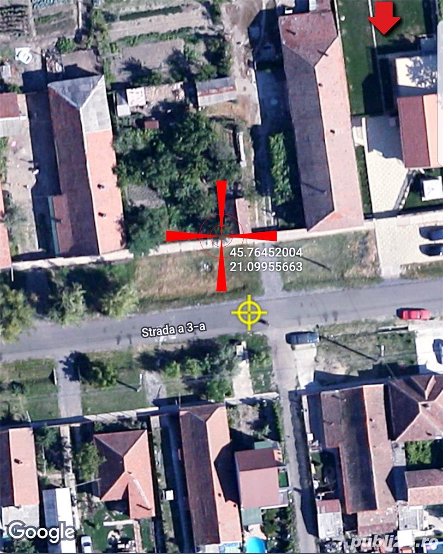 Sacalaz,430 mp, intre case locuite, toate utilitatiile in fata terenului, teren intravilan pt. casa
