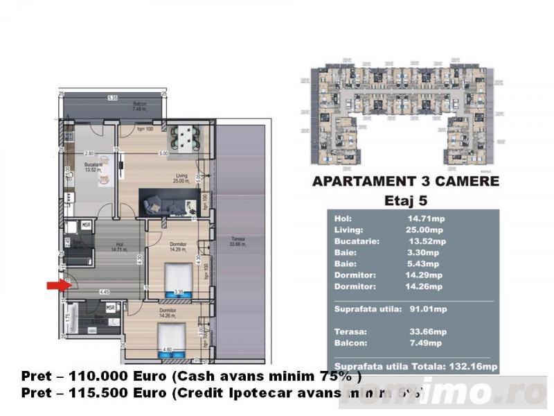 Apartament 3 camere - Decomandat - Nicolae Teclu - Titan